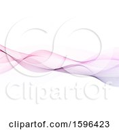 Clipart Of A Purple Mesh Wave On A White Background Royalty Free Vector Illustration