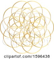 Golden Geometric Circle Doodle Roulette