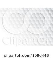 Clipart Of A Grayscale Hexagon Background Royalty Free Vector Illustration by KJ Pargeter