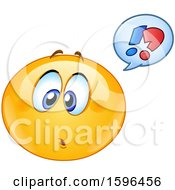 Clipart Of A Confused Yellow Emoji Emoticon Royalty Free Vector Illustration
