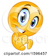 Clipart Of A Yellow Emoji Emoticon Being Scary Royalty Free Vector Illustration