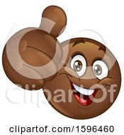 Clipart Of A Brown Emoji Emoticon Giving A Thumb Up Royalty Free Vector Illustration