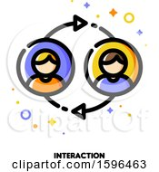 Clipart Of A Business Interaction Icon Royalty Free Vector Illustration