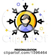 Clipart Of A Personalization Icon Royalty Free Vector Illustration