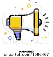 Clipart Of A Marketing Megaphone Icon Royalty Free Vector Illustration