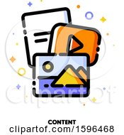 Clipart Of A Content Icon Royalty Free Vector Illustration