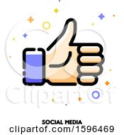 Clipart Of A Social Media Thumb Up Icon Royalty Free Vector Illustration