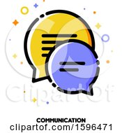 Clipart Of A Communication Icon Royalty Free Vector Illustration