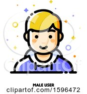 Clipart Of A Male User Icon Royalty Free Vector Illustration by elena