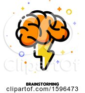 Clipart Of A Brainstorming Icon Royalty Free Vector Illustration