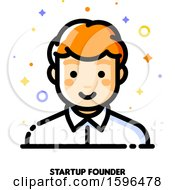 Clipart Of A Male Startup Founder Icon Royalty Free Vector Illustration by elena