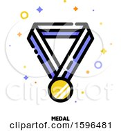 Clipart Of A Medal Icon Royalty Free Vector Illustration