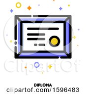 Clipart Of A Diploma Icon Royalty Free Vector Illustration