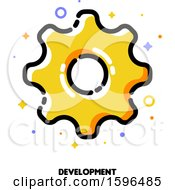 Clipart Of A Cog Wheel Development Icon Royalty Free Vector Illustration