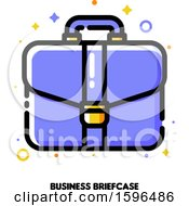 Clipart Of A Briefcase Icon Royalty Free Vector Illustration