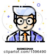Clipart Of A Business Man Avatar Icon Royalty Free Vector Illustration by elena