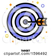 Clipart Of A Target Success Icon Royalty Free Vector Illustration