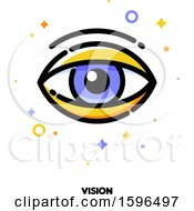 Clipart Of A Human Eye Vision Icon Royalty Free Vector Illustration