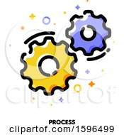 Clipart Of A Process Gears Icon Royalty Free Vector Illustration