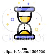 Clipart Of A Time Hourglass Icon Royalty Free Vector Illustration