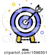 Clipart Of A Goal Archery Board Icon Royalty Free Vector Illustration