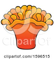 Clipart Of A Sea Anemone Royalty Free Vector Illustration