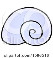 Clipart Of A Sea Snail Shell Royalty Free Vector Illustration