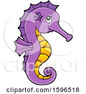 Cute Purple And Yellow Seahorse