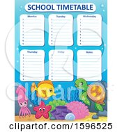 School Time Table With Sea Creatures
