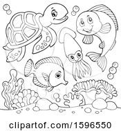 Lineart Sea Creatures