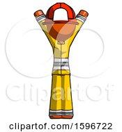 Poster, Art Print Of Orange Firefighter Fireman Man Hands Up