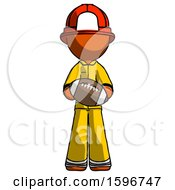 Orange Firefighter Fireman Man Giving Football To You