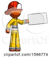 Orange Firefighter Fireman Man Holding Large Envelope