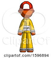 Orange Firefighter Fireman Man Standing Facing Forward by Leo Blanchette