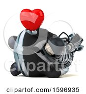 Clipart Of A 3d Business Zebra Holding A Heart On A White Background Royalty Free Illustration by Julos