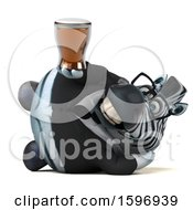 Clipart Of A 3d Business Zebra Holding A Beer On A White Background Royalty Free Illustration by Julos