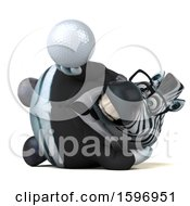 Clipart Of A 3d Business Zebra Holding A Golf Ball On A White Background Royalty Free Illustration by Julos