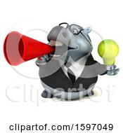 Poster, Art Print Of 3d Chubby White Business Horse Holding A Light Bulb On A White Background