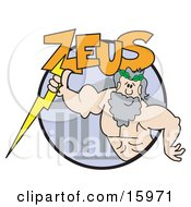 Strong Male Greek Good Zeus Clipart Illustration