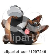 Clipart Of A 3d Business German Shepherd Dog Holding A Cloud On A White Background Royalty Free Illustration by Julos