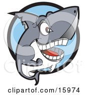 Grinning Shark Showing Its Teeth Clipart Illustration by Andy Nortnik #COLLC15974-0031