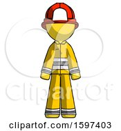 Yellow Firefighter Fireman Man Standing Facing Forward