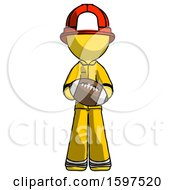 Yellow Firefighter Fireman Man Giving Football To You
