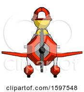Yellow Firefighter Fireman Man In Geebee Stunt Plane Front View