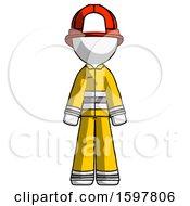 White Firefighter Fireman Man Standing Facing Forward