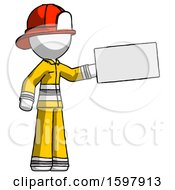 White Firefighter Fireman Man Holding Large Envelope