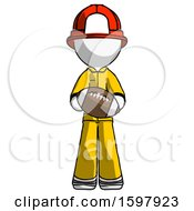 White Firefighter Fireman Man Giving Football To You