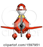 White Firefighter Fireman Man In Geebee Stunt Plane Front View