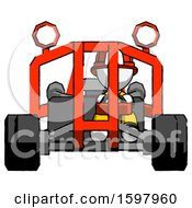 White Firefighter Fireman Man Riding Sports Buggy Front View