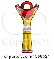 Red Firefighter Fireman Man Hands Up